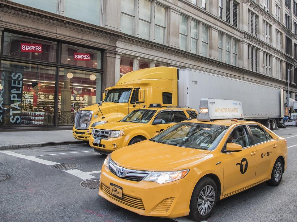 žluté taxi