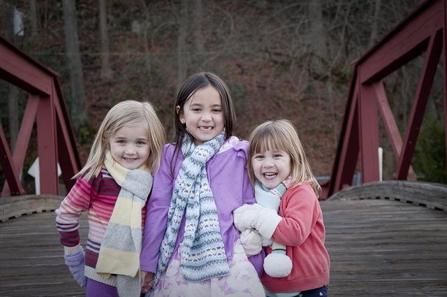 děti na mostě