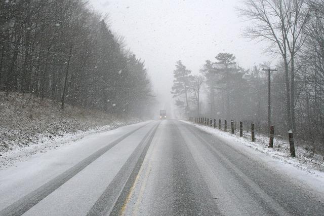 nasněžíno na silnici