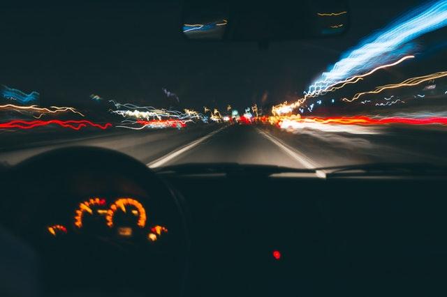 jízda ve tmě