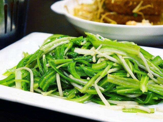 asijské jídlo, výhonky